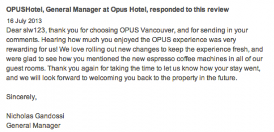 Responding to social media commentary for inspiration check out responses by our webinar guest nicholas gandossi general manager of opus hotel spiritdancerdesigns Image collections