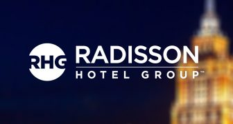 Radisson Hotel Group Moscow at night